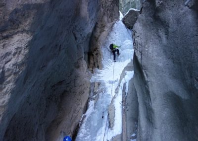 Gsteig Gorge 3, CH. Intro to Ice