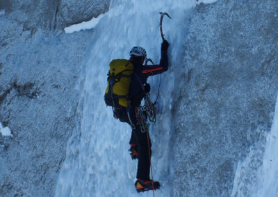 Alpine Winter North Face Climbing